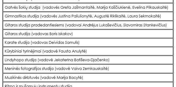 Akredituotos programos 2018-2019 m.m.