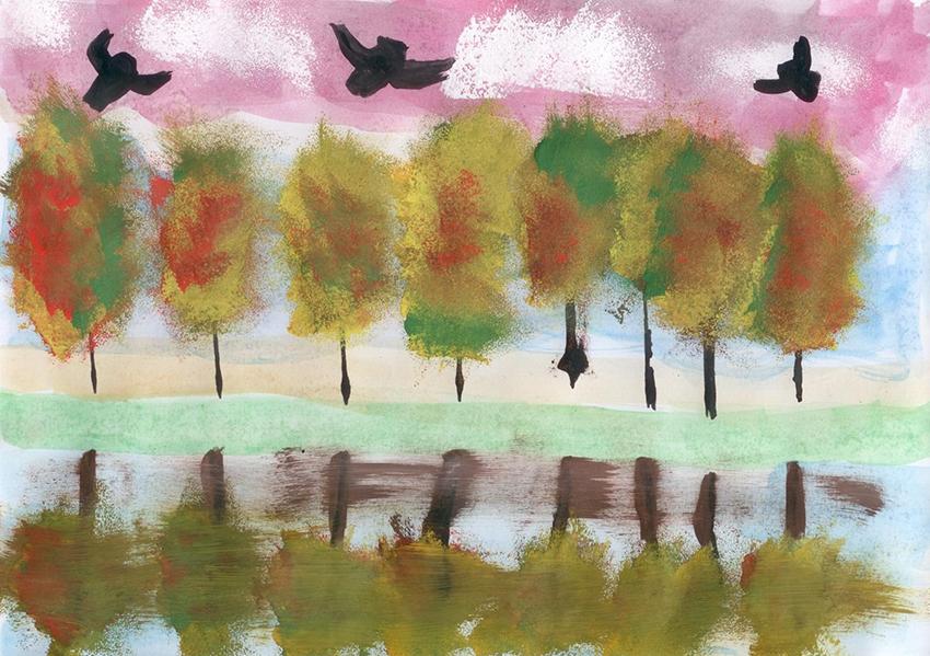 1Medeinės ruduo, medžiai